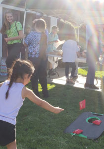 people playing in front of ventura church