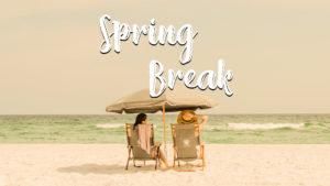 resting in ventura during spring break on a beach