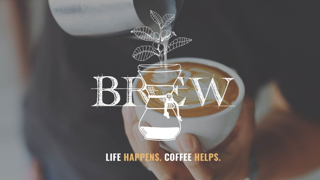 Pouring latte art in Ventura coffee shop
