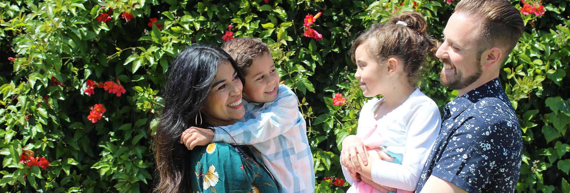 Family smiling at Ventura Church