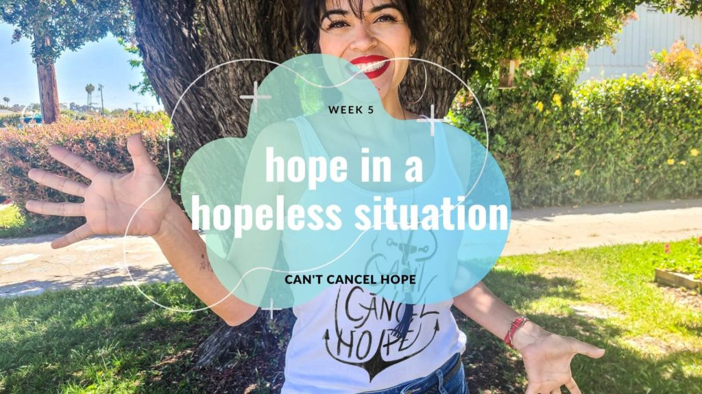 Girl in Ventura wearing anchor tank top for Hope series