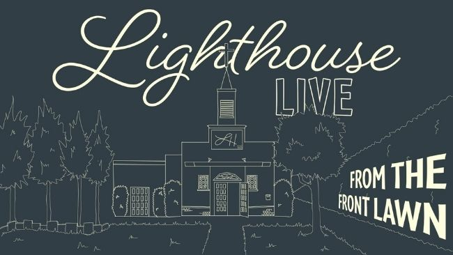 Lighthouse ventura church sketch of the front lawn